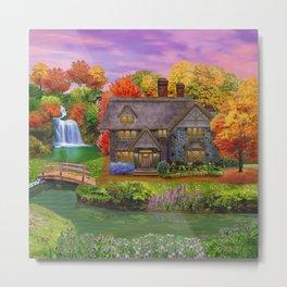 Autumn Home Landscape Metal Print