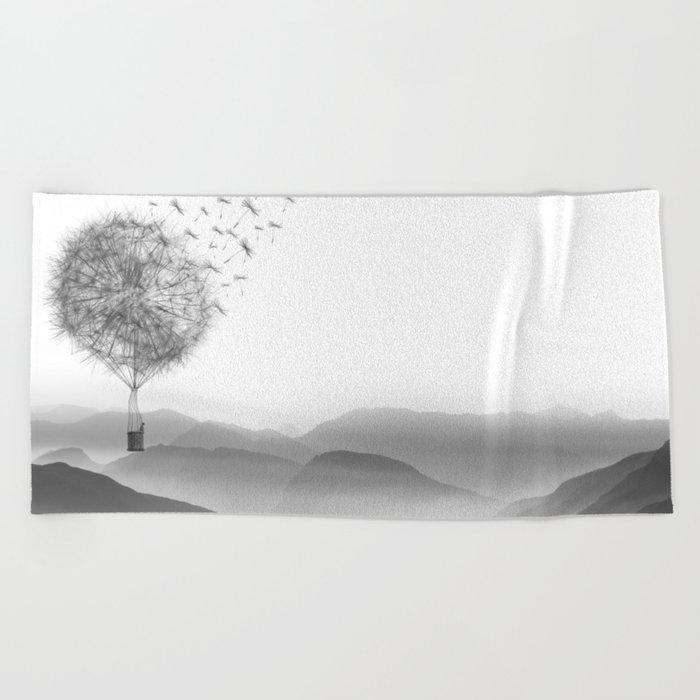 Light as a Dandelion Beach Towel