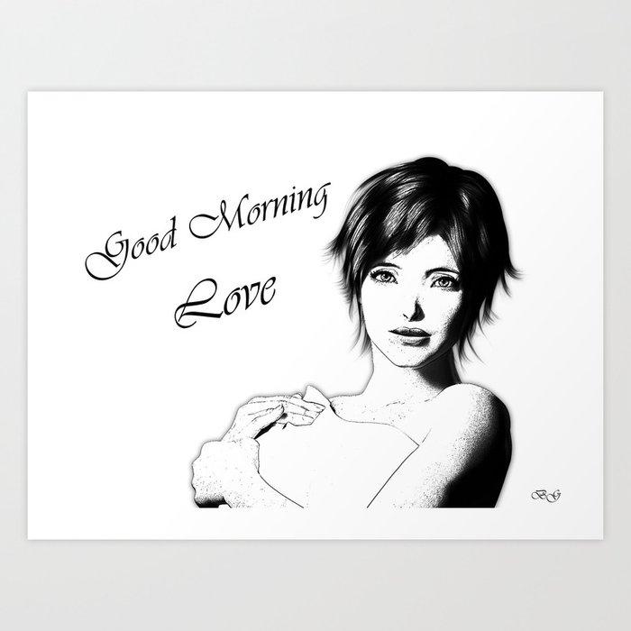 Good Morning Love Art Print