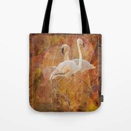 Flamingo Dance Tote Bag