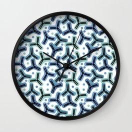 Blue Antibodies 1 Wall Clock