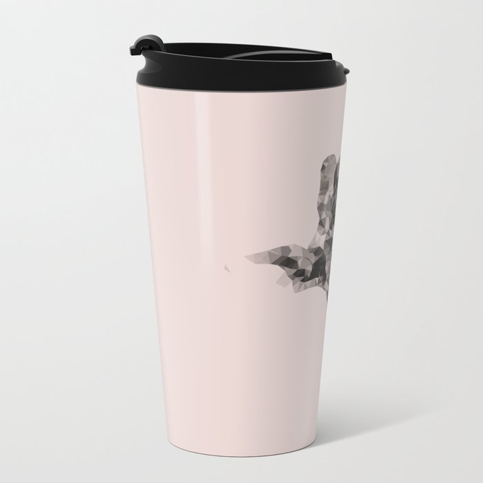 Little giraffe in pink Metal Travel Mug