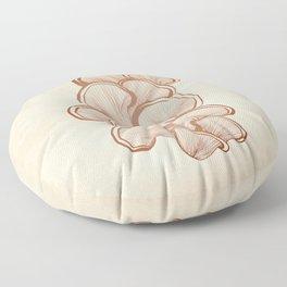 Mushrooms in Copper Floor Pillow