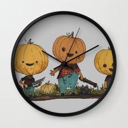 Pumpkin Pals Wall Clock