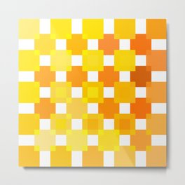 50 Squares of YELLOW - Living Hell Metal Print