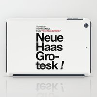 danny haas iPad Cases featuring Helvetica Neue / Neue Haas Grotesk – Poster by In The Modern Era