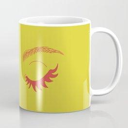 Betty Gone Batty (Red on Chartreuse Edition) Coffee Mug