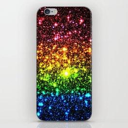 Rainbow Sparkle Galaxy Stars iPhone Skin