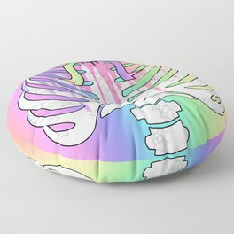 Pastel Rainbow Ribcage Floor Pillow