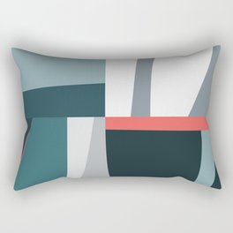 Organic Geometric 01 Blue Rectangular Pillow