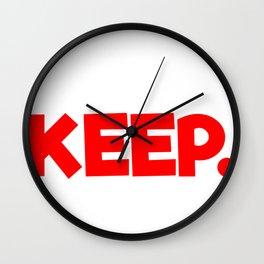 Sarcastic Runner Must Keep Running Wall Clock