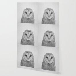 Owl - Black & White Wallpaper