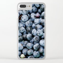 BLUEBERRIES - BUNCH - FRUIT - PHOTOGRAPHY Clear iPhone Case