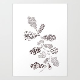 Leaf with pattern Art Print