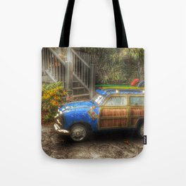 Off to Fulfill a Surfing Dream Tote Bag