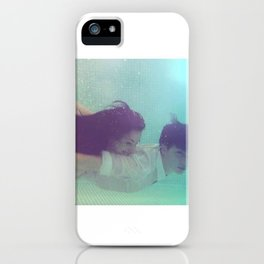 A Young Couple Swim iPhone Case