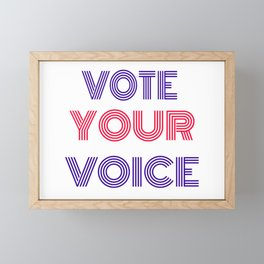 Vote Your Voice Framed Mini Art Print