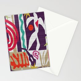 Inspired to Matisse (violet) Stationery Cards