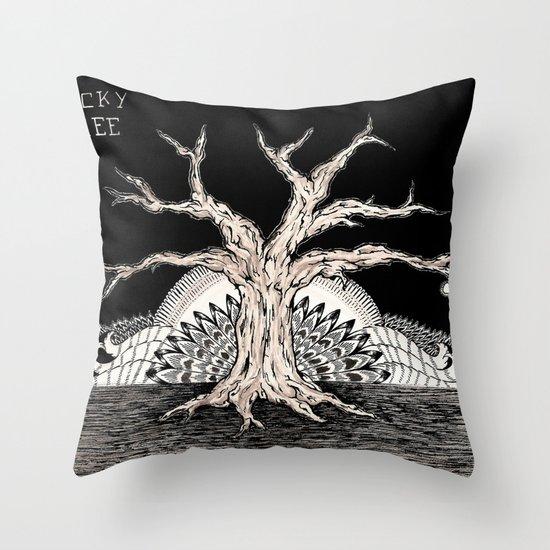 Lucky Tree Throw Pillow