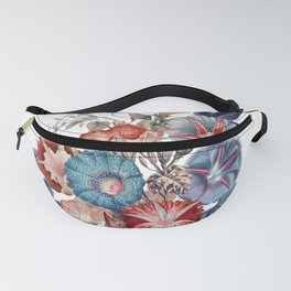 Morning Glories Flower Bouquet Fanny Pack