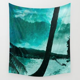 Tempest Island (Colder Version) Wall Tapestry