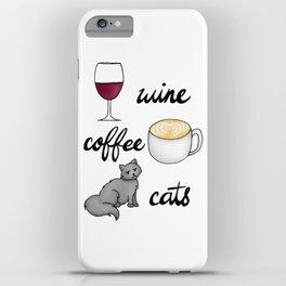 Wine Coffee Cats iPhone Case