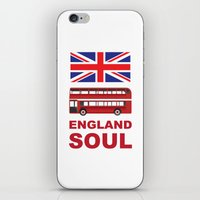 england iPhone & iPod Skins featuring England Soul by Tony Vazquez