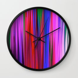 Rain  in Color Abstract Oil Pinting Wall Clock