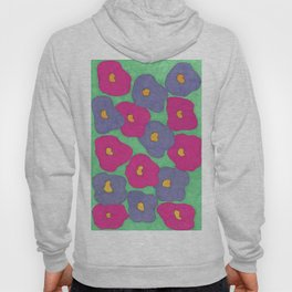 Poppies in Bright Color Hoody