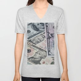 US Dollar Unisex V-Neck