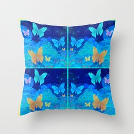 Classy Butterfly Origami Window Print Throw Pillow