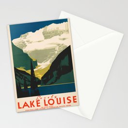 Lovely Lake Louise vintage travel ad Stationery Cards