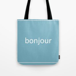words: bonjour Tote Bag