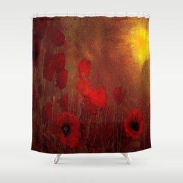FLOWERS - Poppy heaven Shower Curtain