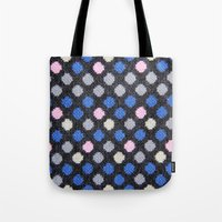 polka dots Tote Bags featuring Polka Dots  by MyLove4Art