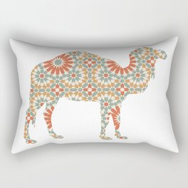 CAMEL SILHOUETTE WITH PATTERN Rectangular Pillow