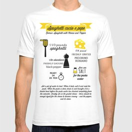 Spaghetti cacio e pepe T-shirt