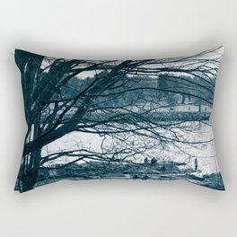 Lines - Trees in Vancouver, BC Rectangular Pillow