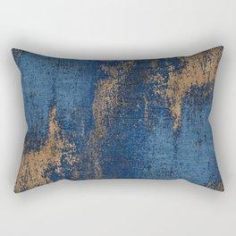 NAVY BLUE AND GOLD PATTERN Rectangular Pillow