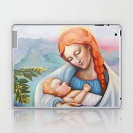 Maria and child. Madonna Laptop & iPad Skin