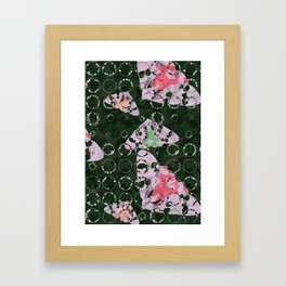 Flowers and Moths Framed Art Print