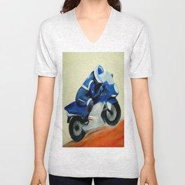 Art, painting, illustration, motorbike Unisex V-Neck