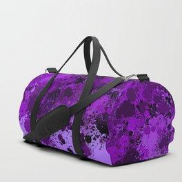 paint splatter on gradient pattern dp Duffle Bag