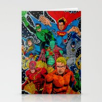 superheros Stationery Cards featuring Heroes Unite by JayKay