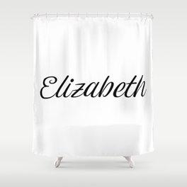 Name Elizabeth Shower Curtain