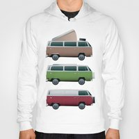 vw Hoodies featuring VW Camper by WyattDesign