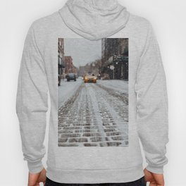 Yellow cab during snow Hoody