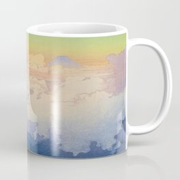 Above the Clouds (Un-Hyo)  Vintage Beautiful Japanese Woodblock Print Hiroshi Yoshida Coffee Mug