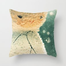 Snuggle bubble Throw Pillow
