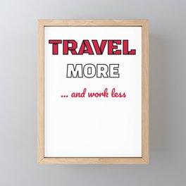 Cute Traveling for Travelers Framed Mini Art Print